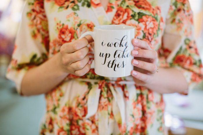Wake Up Like This Mug | Bald Eagle State Park Wedding | Caitlin Thomas Photography | Via MountainsideBride.com
