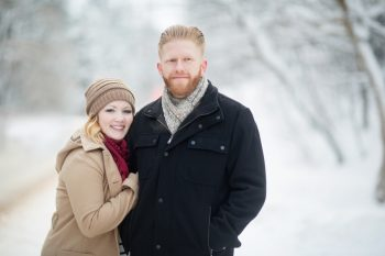 1 Snowy Engagement Session In Utah Faces Photography | Via MountainsideBride.com