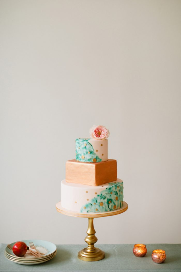 11 Cake By Minted And Aisle Society Via MountainsideBride.com