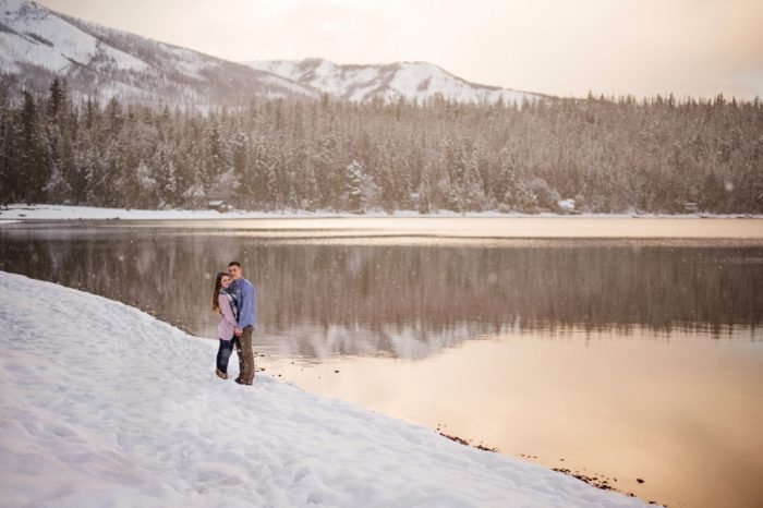 14 Snowy Montana Engagement Marianne Wiest Photography Via MountainsideBride.com