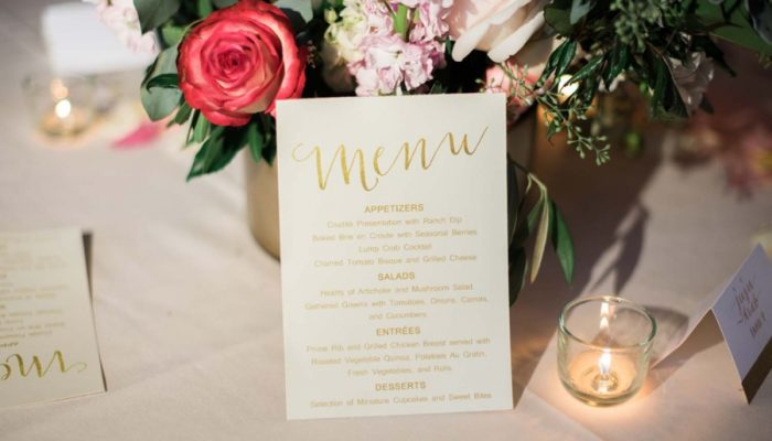 Copper Mountain Wedding with Modern Romantic Pink Black and Gold Details