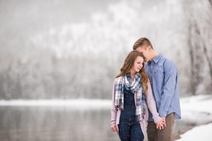 2 Snowy Montana Engagement Marianne Wiest Photography Via MountainsideBride.com