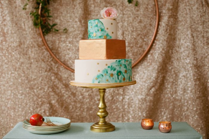 24 Cake By Minted And Aisle Society Via MountainsideBride.com