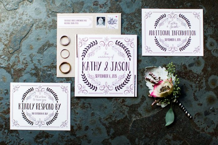 Whimsical wedding invitation suite | Copper Mountain Wedding Colorado Danielle DeFiore Photography | Via Mountainsidebride.com