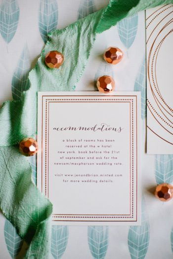 33b Stationery By Minted And Aisle Society Via MountainsideBride.com