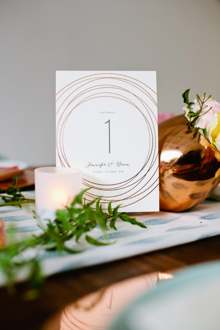 35 Tablescape By Minted And Aisle Society Via MountainsideBride.com