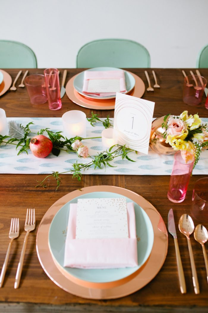 36b Tablescape By Minted And Aisle Society Via MountainsideBride.com
