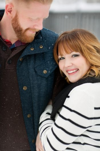7a Snowy Engagement Session In Utah Faces Photography | Via MountainsideBride.com