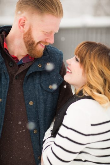7b Snowy Engagement Session In Utah Faces Photography | Via MountainsideBride.com