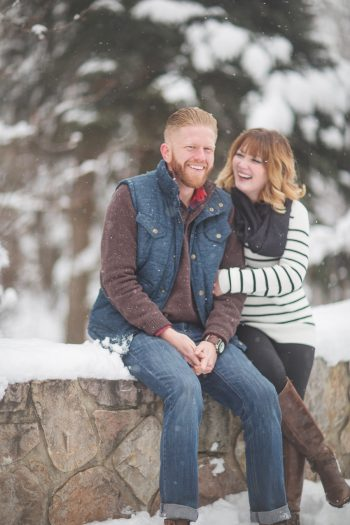 9a Snowy Engagement Session In Utah Faces Photography | Via MountainsideBride.com