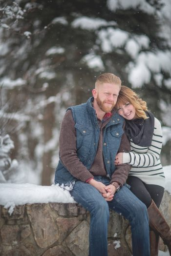 9b Snowy Engagement Session In Utah Faces Photography | Via MountainsideBride.com