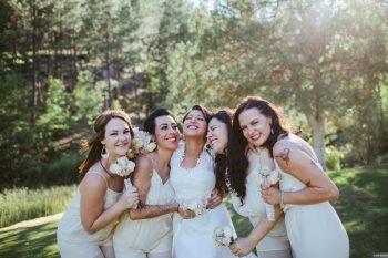 Happy Bridesmaids An Enchanted Occasion Galaxie Andrews | Via MountainsideBride.com