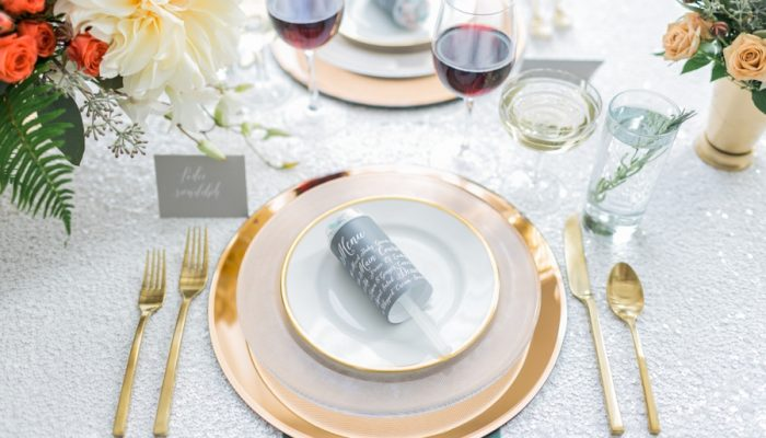 Flawless Modern Wedding Inspiration by Aisle Society