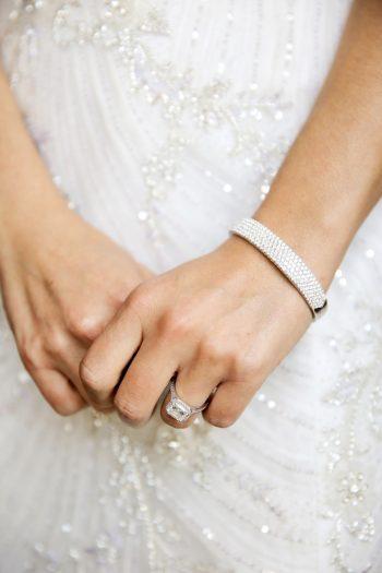 Diamond Engagement Ring | Elegant Park City Wedding St Regis Logan Walker Photography | Via MountainsideBride.com