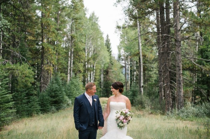 Bride And Groom Canmore Mountain Wedding At Silvertip Resort Corrina Walker Photography | Via MountainsideBride.com