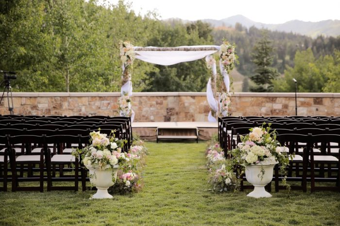 Ceremony Site | Elegant Park City Wedding St Regis Logan Walker Photography | Via MountainsideBride.com