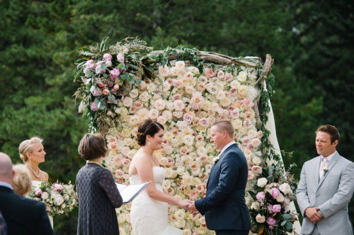 Ceremony Canmore Mountain Wedding At Silvertip Resort Corrina Walker Photography   Via MountainsideBride.com