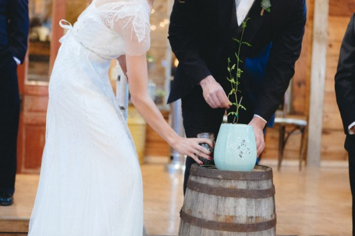 Ceremony Planting Folk Wedding Inspiration In Asheville Krista Lajara Photography | Via MountainsideBride.com