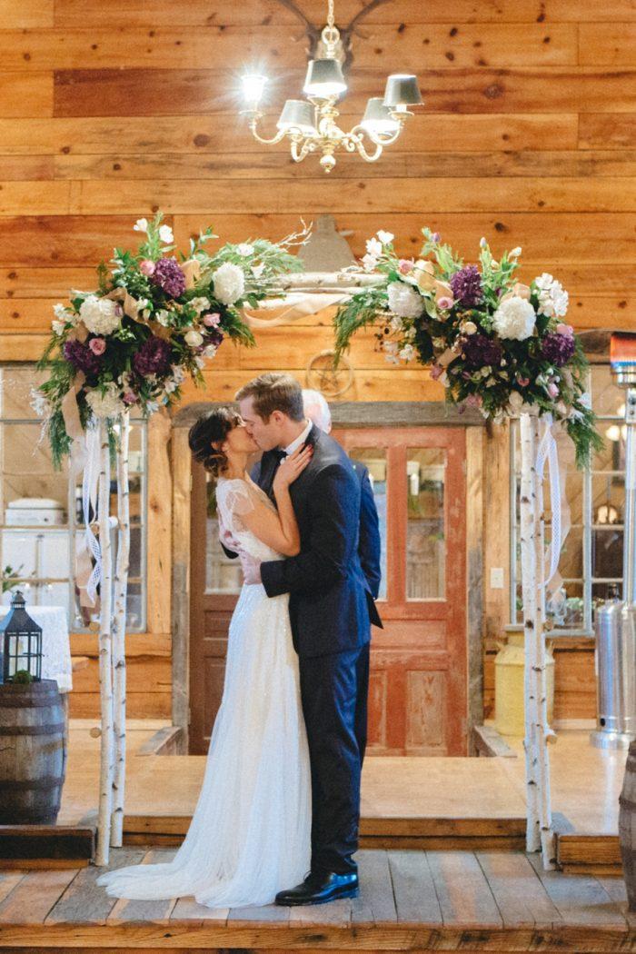 Kiss Folk Wedding Inspiration In Asheville Krista Lajara Photography | Via MountainsideBride.com