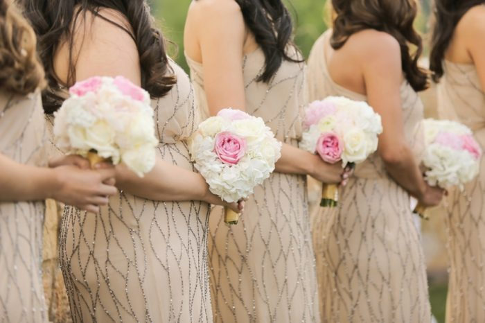 Pink And White Bridesmaids Bouquets | Elegant Park City Wedding St Regis Logan Walker Photography | Via MountainsideBride.com