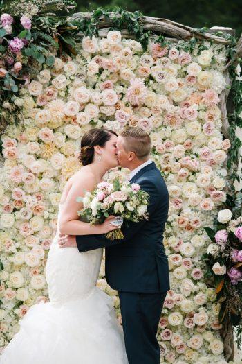 Ceremony Kiss Canmore Mountain Wedding At Silvertip Resort Corrina Walker Photography   Via MountainsideBride.com
