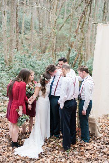 Woodland Mountain Ceremony | Smoky Mountain Elopement Madeline Harper Photo | Via MountainsideBride