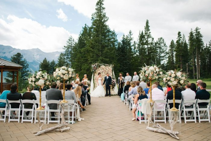 Ceremony Canmore Mountain Wedding At Silvertip Resort Corrina Walker Photography | Via MountainsideBride.com