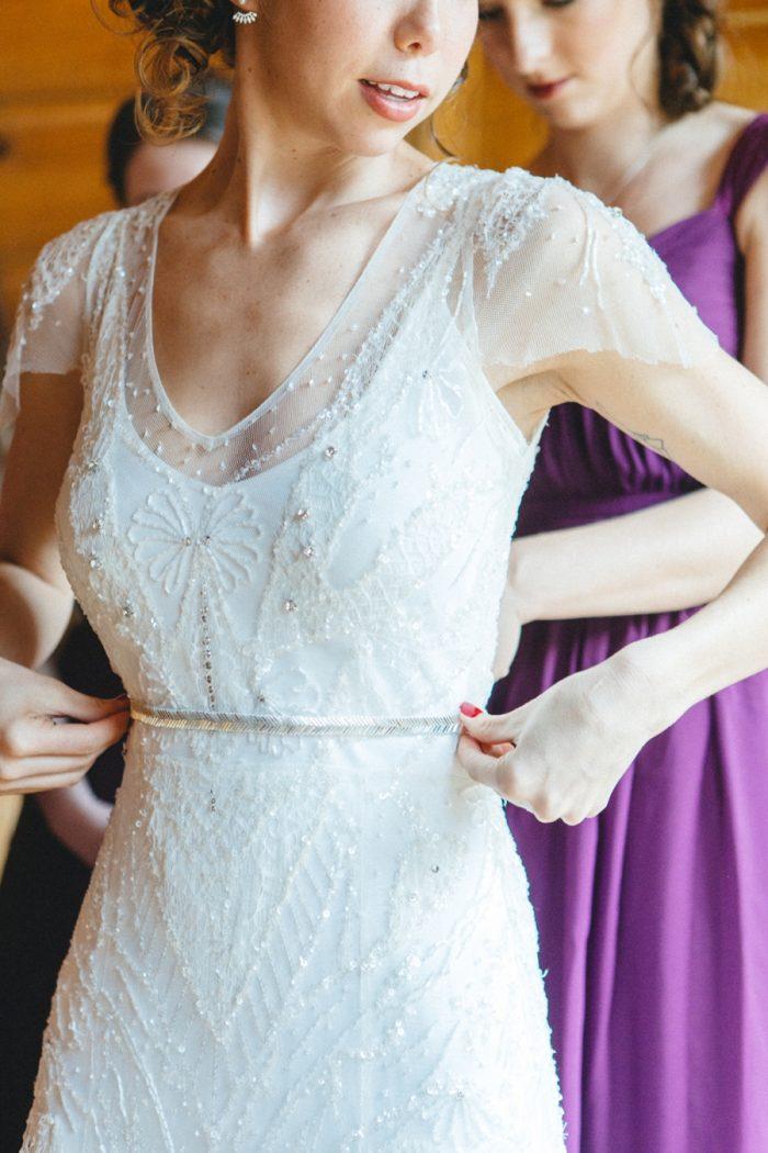 Getting Dressed Folk Wedding Inspiration In Asheville Krista Lajara Photography | Via MountainsideBride.com
