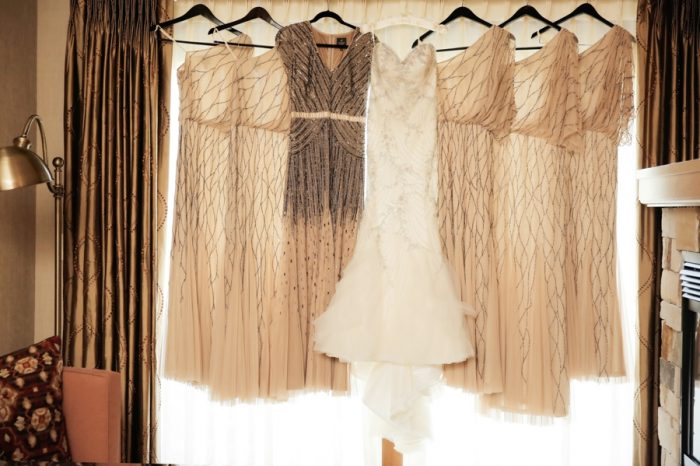 Beaded Brides Maid Dresses | Elegant Park City Wedding St Regis Logan Walker Photography | Via MountainsideBride.com