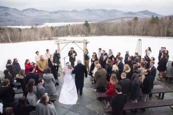 Winter Vermont Wedding With Two Brides Jaclyn Schmitz Photography | Via MountainsideBride.com