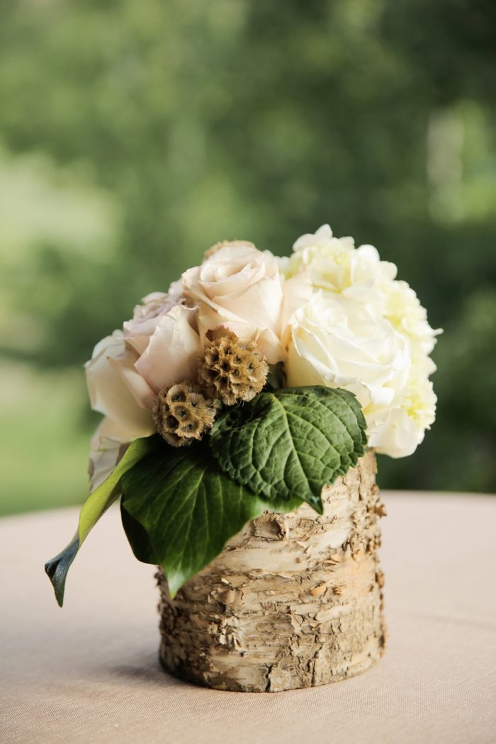 Rustic Centerpiece | Elegant Park City Wedding St Regis Logan Walker Photography | Via MountainsideBride.com