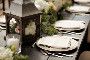 Lantern Tablescape | Elegant Park City Wedding St Regis Logan Walker Photography | Via MountainsideBride.com