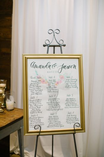Seating Chart Canmore Mountain Wedding At Silvertip Resort Corrina Walker Photography | Via MountainsideBride.com