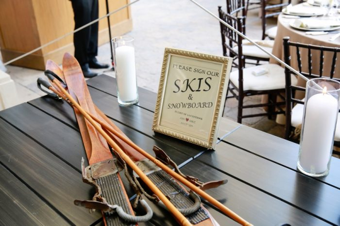 Skis Guest Book | Elegant Park City Wedding St Regis Logan Walker Photography | Via MountainsideBride.com