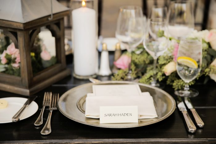 Place Setting | Elegant Park City Wedding St Regis Logan Walker Photography | Via MountainsideBride.com
