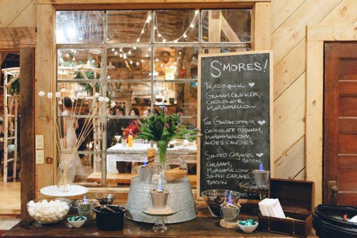 Smores Bar Folk Wedding Inspiration In Asheville Krista Lajara Photography | Via MountainsideBride.com
