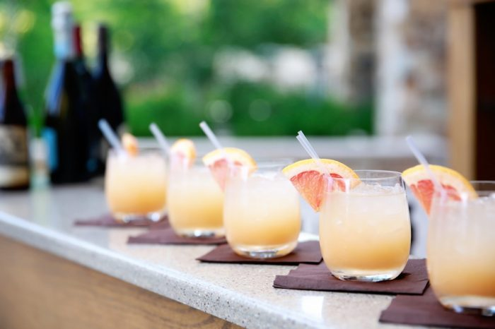 Grapefruit Signature Cocktails | Elegant Park City Wedding St Regis Logan Walker Photography | Via MountainsideBride.com