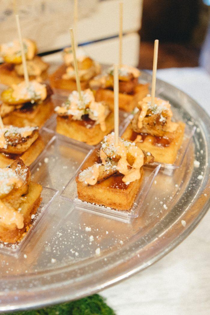Appetizers Folk Wedding Inspiration In Asheville Krista Lajara Photography | Via MountainsideBride.com