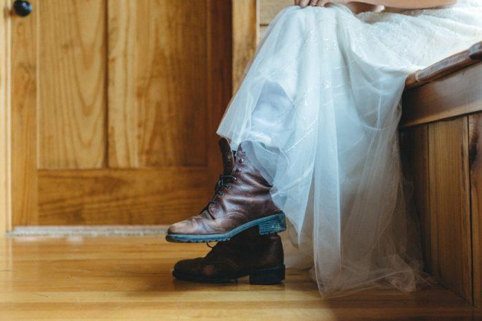 Boots Folk Wedding Inspiration In Asheville Krista Lajara Photography | Via MountainsideBride.com