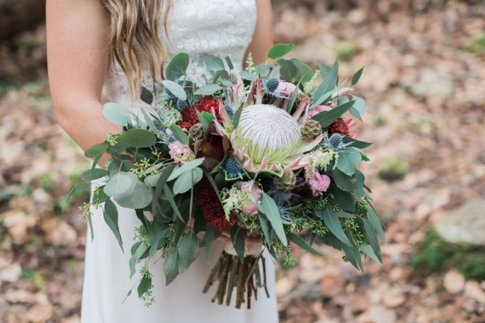 Bouquet | Smoky Mountain Elopement Madeline Harper Photo | Via MountainsideBride