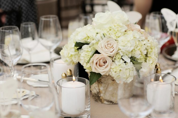 Rose Centerpiece | Elegant Park City Wedding St Regis Logan Walker Photography | Via MountainsideBride.com