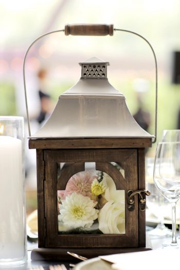 Lantern Centerpiece | Elegant Park City Wedding St Regis Logan Walker Photography | Via MountainsideBride.com