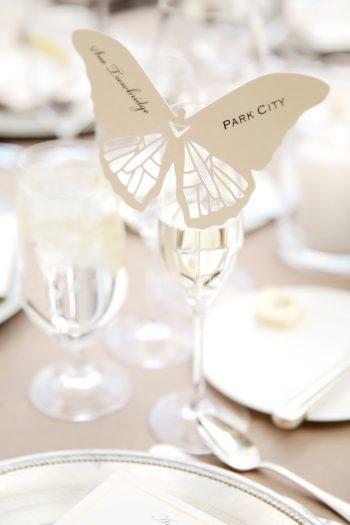 Butterfly Wedding Idea | Elegant Park City Wedding St Regis Logan Walker Photography | Via MountainsideBride.com