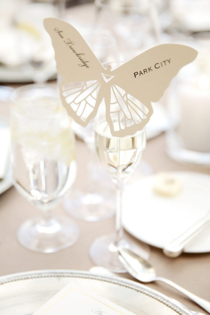 Butterfly Wedding Idea | Elegant Park City Wedding St Regis Logan Walker Photography | Via MountainsideBride.com