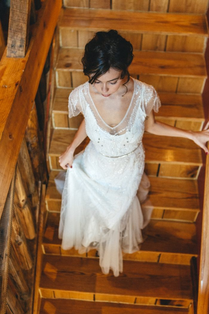 Bride Portraits Folk Wedding Inspiration In Asheville Krista Lajara Photography | Via MountainsideBride.com