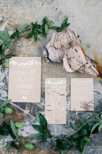 Wedding Invitations Canmore Mountain Wedding At Silvertip Resort Corrina Walker Photography | Via MountainsideBride.com