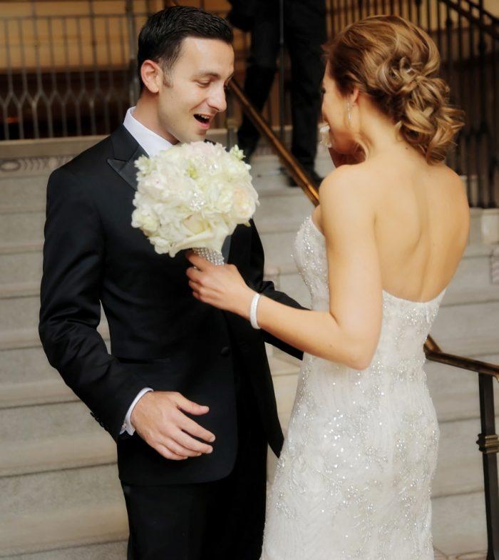 First Look | Elegant Park City Wedding St Regis Logan Walker Photography | Via MountainsideBride.com