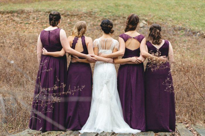 Bridesmaids Folk Wedding Inspiration In Asheville Krista Lajara Photography | Via MountainsideBride.com
