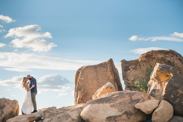 Joshua Tree National Park Engagement Shoot Randy+Ashley Photography | Via MountainsideBride.com