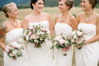 Bridesmaids Canmore Mountain Wedding At Silvertip Resort Corrina Walker Photography   Via MountainsideBride.com